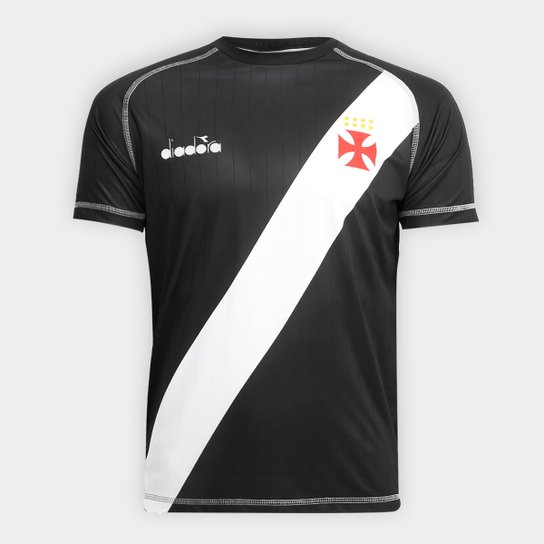 1305189df9ec3 Camisa Vasco Transição I 2018 s nº Torcedor Diadora Masculina - Preto