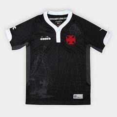 Camisa Vasco III 2018 s n° - Torcedor Diadora Infantil a390e83803e6d