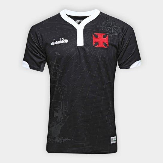 Camisa Vasco III 2018 s n° - Torcedor Diadora Masculina - Preto ... 27f6bf7207a4b