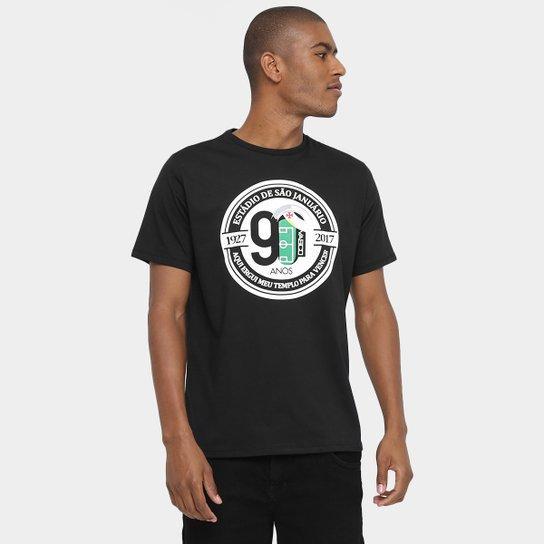 f24ca6e434 Camiseta Vasco São Januário 90 Anos Masculina - Preto | Shop Vasco