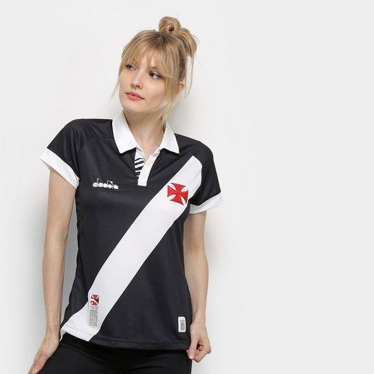 068b4a76e2 Camisa Vasco I 19 20 s nº Torcedor Diadora Feminina - Preto