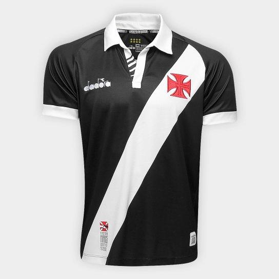 359425ec53 Camisa Vasco I 19/20 s/nº Torcedor Diadora Masculina - Preto | Shop ...