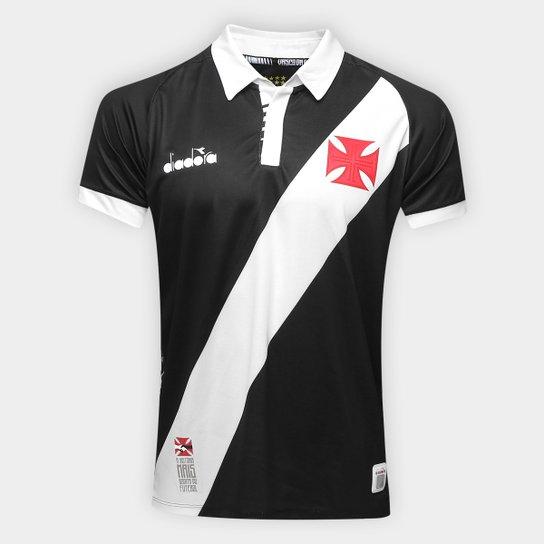 b5442eac1fef9 Camisa Vasco I 19/20 s/nº Jogador Diadora Masculina - Preto | Shop Vasco