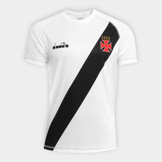 Camisa Vasco Transição II 2018 s nº - Torcedor Diadora Masculina - Branco cc6a1186d9dc1