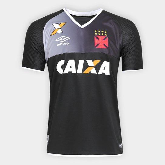 53fb3ca163e12 Camisa Vasco Goleiro 17 18 s nº Torcedor Umbro Masculina - Preto+Branco