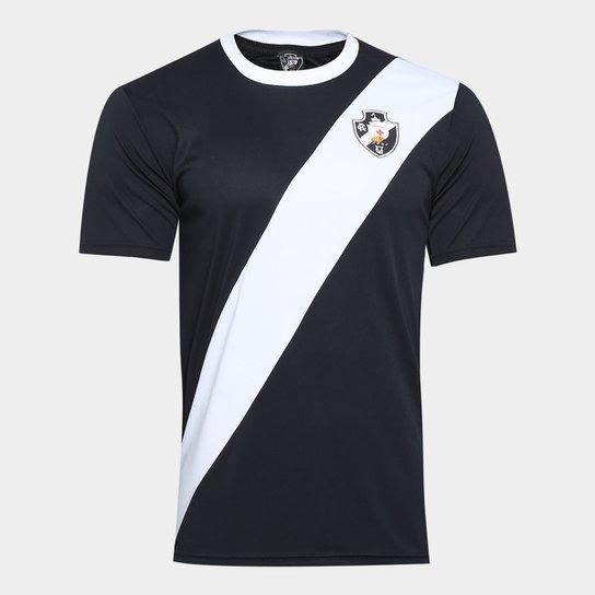 2de019fcccbf4 Camisa Vasco Clássica Edição Limitada Masculina - Preto e Branco ...