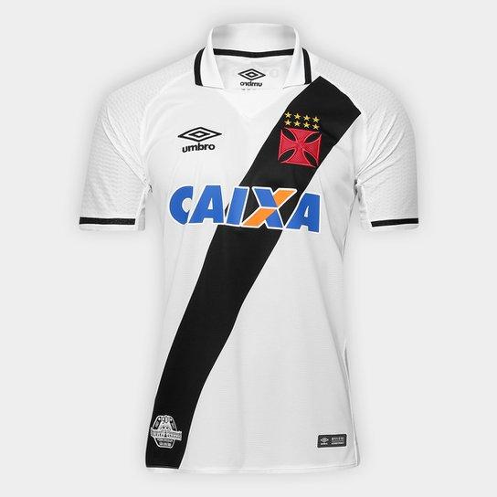 9ff0110bca Camisa Vasco II 17 18 s n° Torcedor Umbro Masculina - Branco e Preto ...