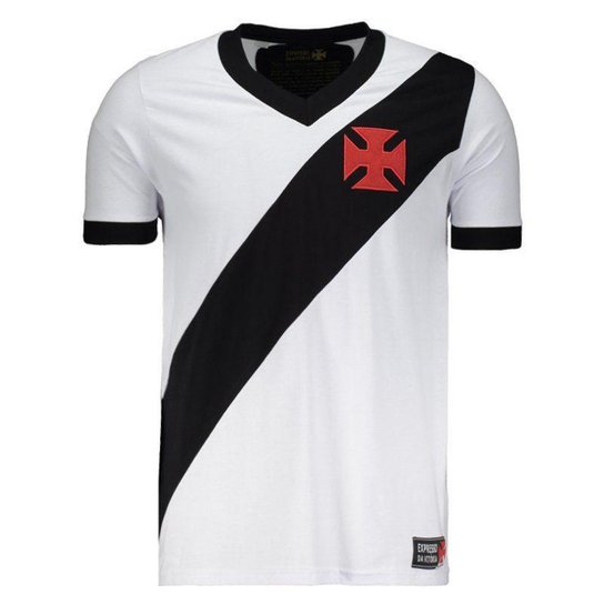 26984c4af9 Camiseta Vasco Expresso Masculina - Branco e Preto | Shop Vasco