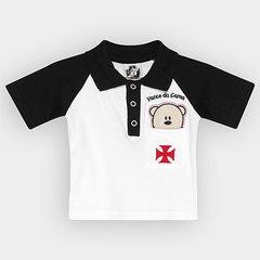 Camisa Polo Infantil Vasco Bebê Urso 8ab14673b0608