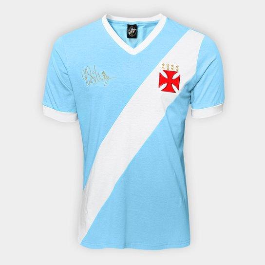 82d9dee696b58 Camiseta Vasco nº 1 Martin Silva Masculina - Azul Claro e Branco ...