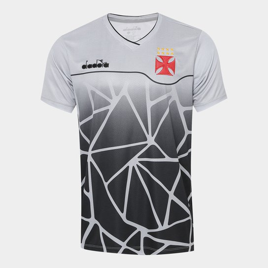 3a1dea37b8e1 Camisa Vasco Treino 2018 Diadora Masculina - Cinza+Preto