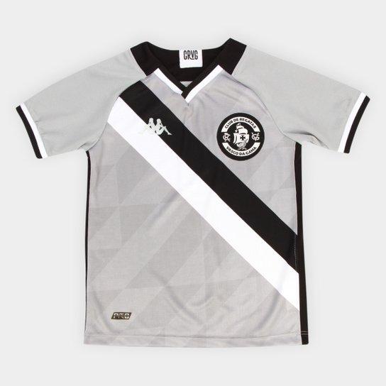 Camisa de Goleiro Juvenil Vasco III 21/22 s/n° Torcedor Kappa - Cinza