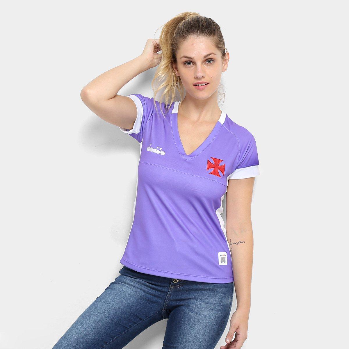 Camisa de Goleiro Vasco II 19 20 - Torcedor Diadora Feminina - Roxo ... 11d09b14ccded