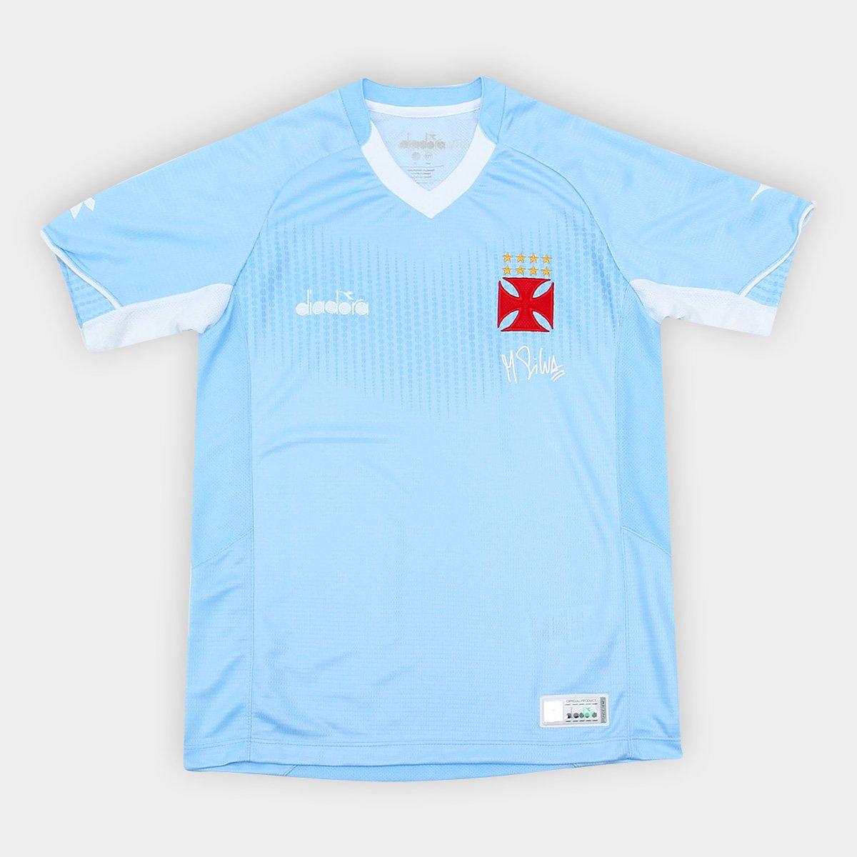 Camisa de Goleiro Vasco Infantil I 2018 s n° Torcedor Diadora - Azul ... fe00968ddf445