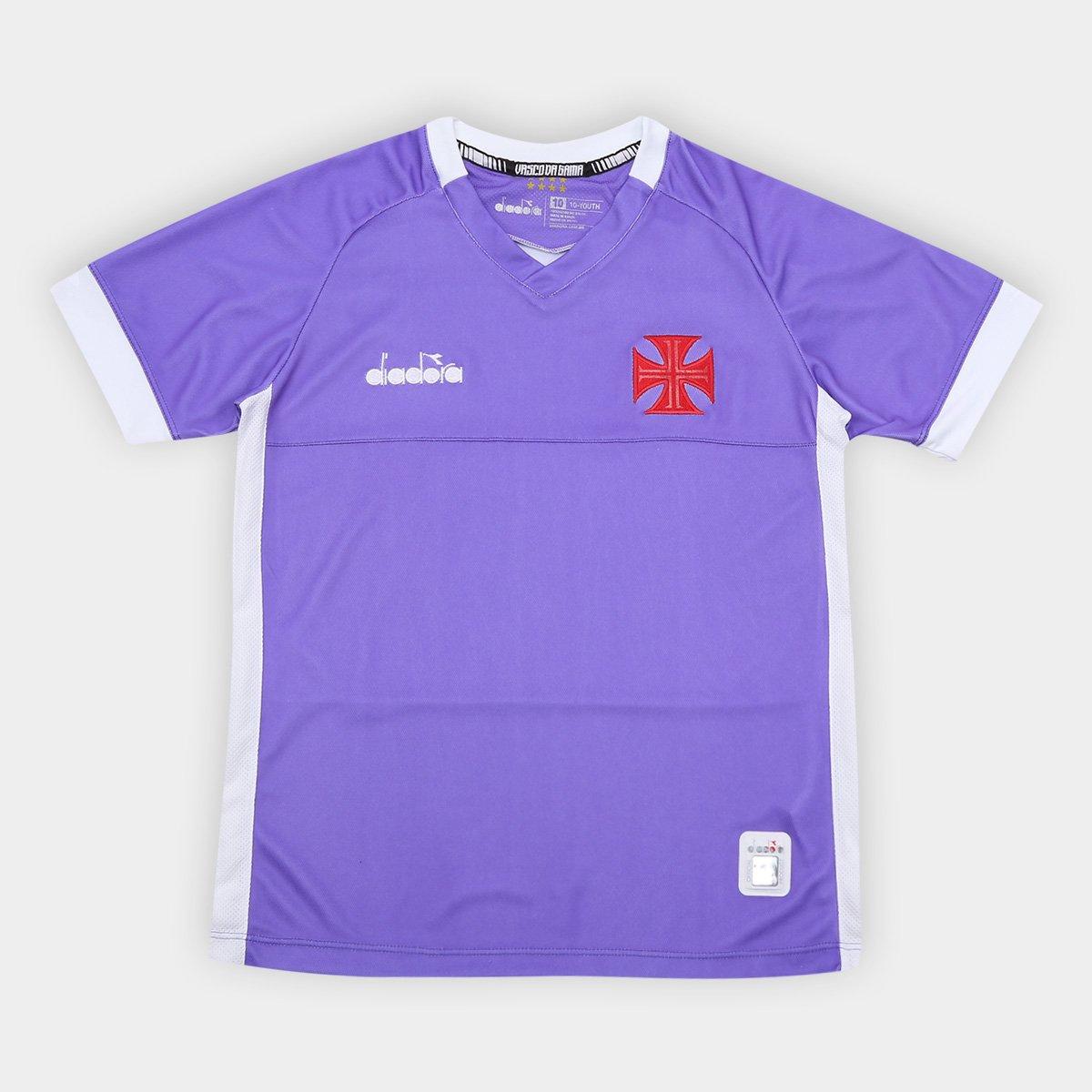 6ef1b7a6e2 Camisa de Goleiro Vasco Infantil II 19 20 - Torcedor Diadora - Roxo ...