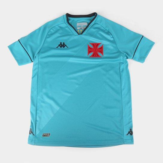Camisa de Goleiro Vasco Juvenil I 20/21 s/n° Torcedor Kappa - Azul