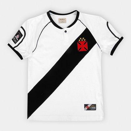 Camisa do Vasco Juvenil Retrô Mania 1998 Libertadores