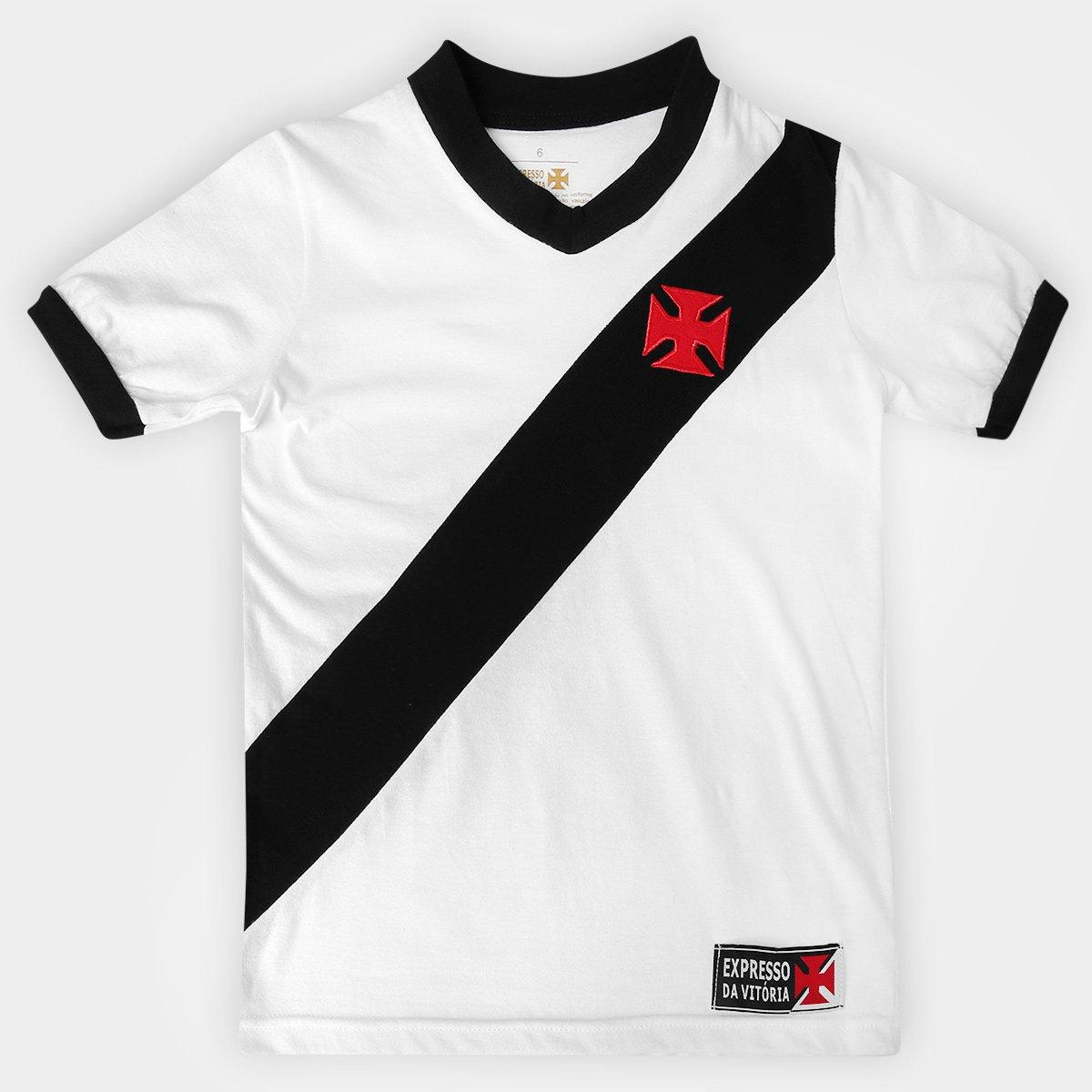 86784979899b5 Camisa Infantil Vasco Expresso - Branco e Preto - Compre Agora ...