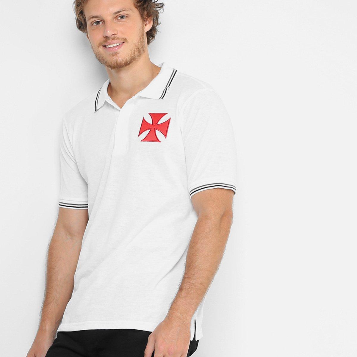 Camisa Polo Vasco Piquet Kehl Masculina - Branco - Compre Agora ... 95dc557529836
