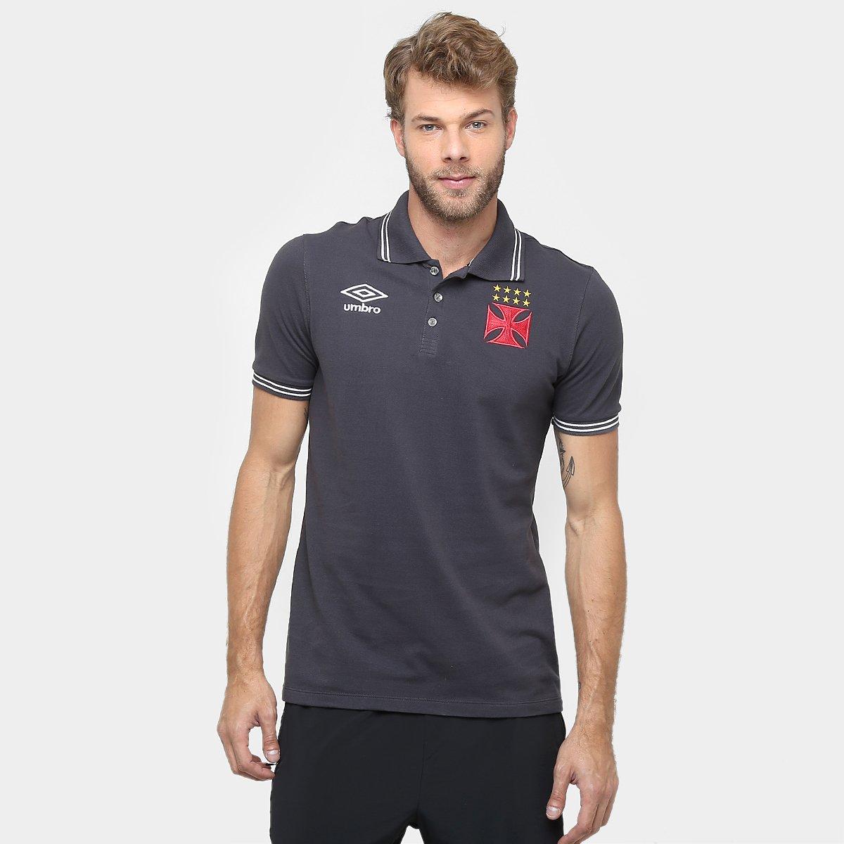c5de3a127 Camisa Polo Vasco Umbro Viagem 2016 Masculina - Compre Agora