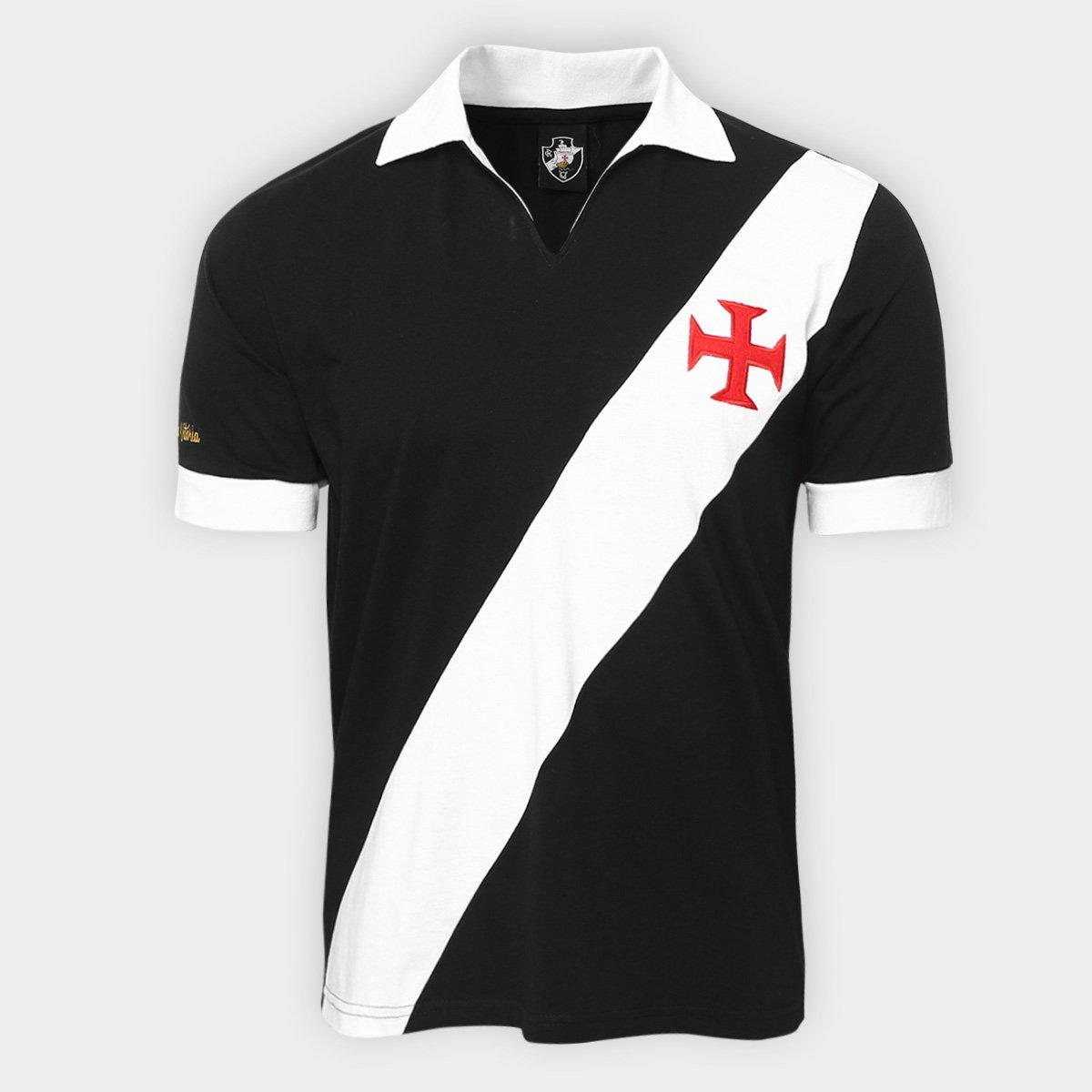 Camisa Retrô Vasco Expresso Da Vitória Masculina - Preto - Compre ... 6365a95285201