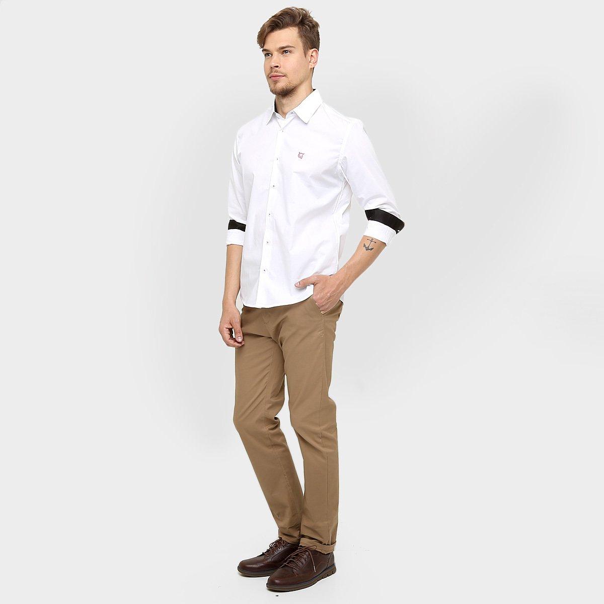 61068cad00 Camisa Social Vasco Palla D Oro Manga Longa Masculina - Compre Agora ...