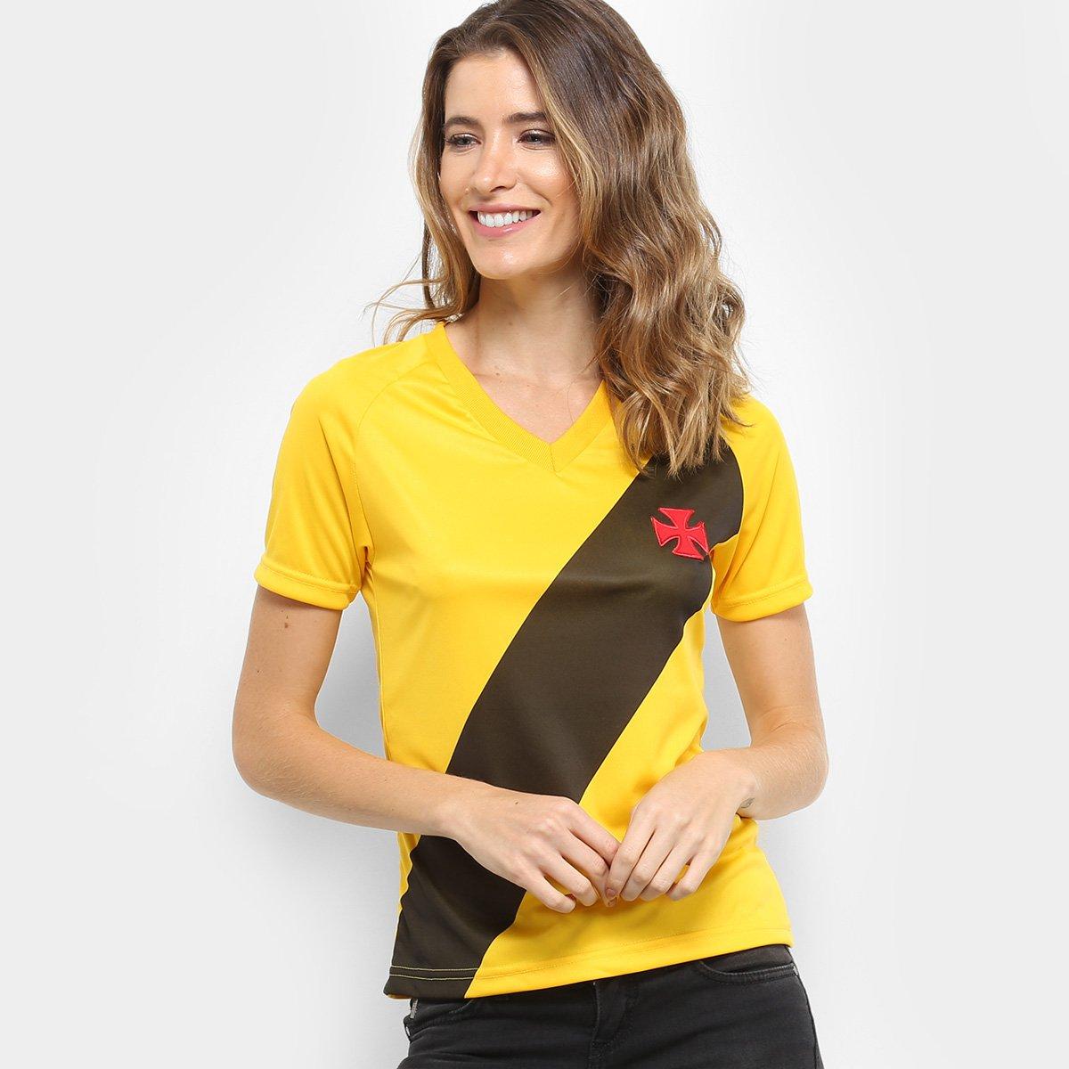 Camisa Vasco 2012 s n° Edição Limitada Feminina - Amarelo - Compre ... c79b182a4f257