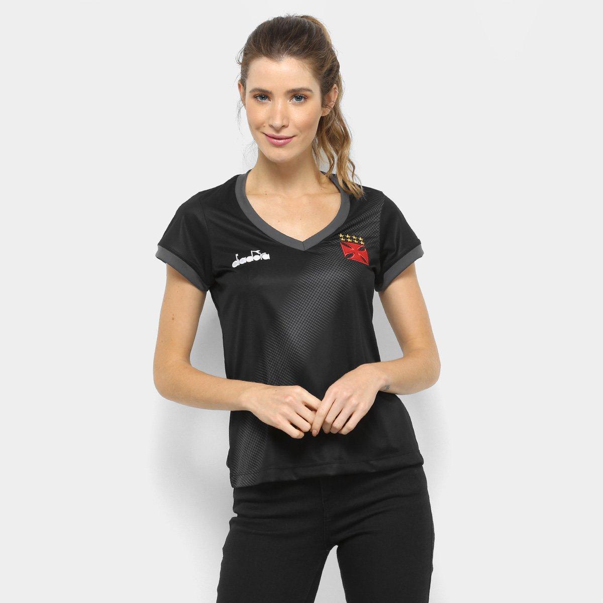 33133af8a9 Camisa Vasco Aquecimento 2018 Diadora Feminina - Compre Agora