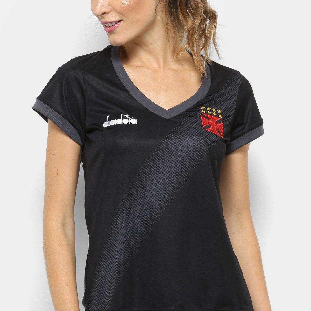 3f3977fdb1 Camisa Vasco Aquecimento 2018 Diadora Feminina - Compre Agora