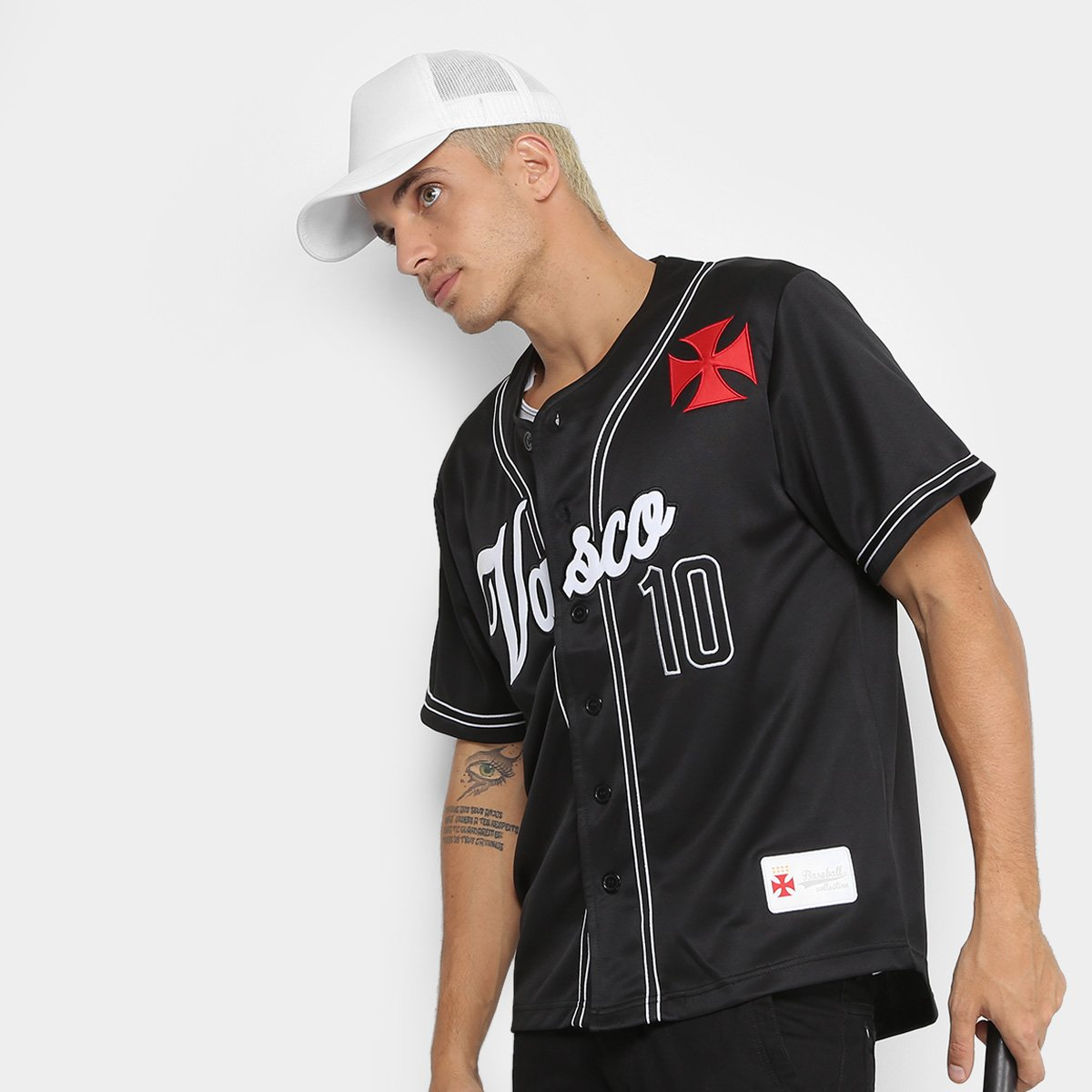 36821b3b7 Camisa Vasco Baseball Masculina - Compre Agora