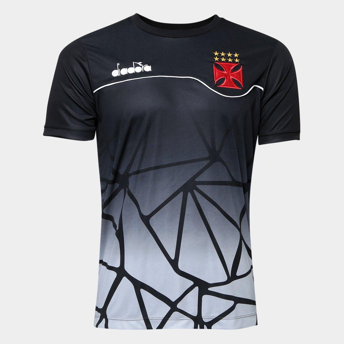 6fe86913e5 Camisa Vasco Concentração 2018 Atleta Diadora Masculina - Preto | Shop Vasco