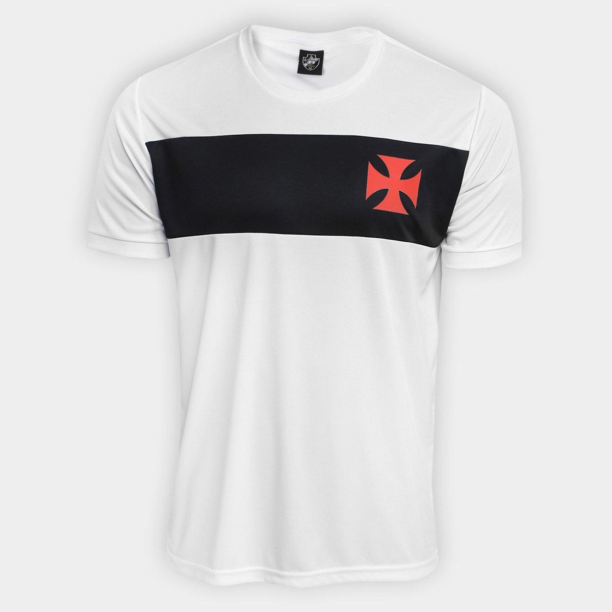 0a9c502733ab7 Camisa Vasco Dry Recortes Classic Masculina - Branco e Preto - Compre Agora
