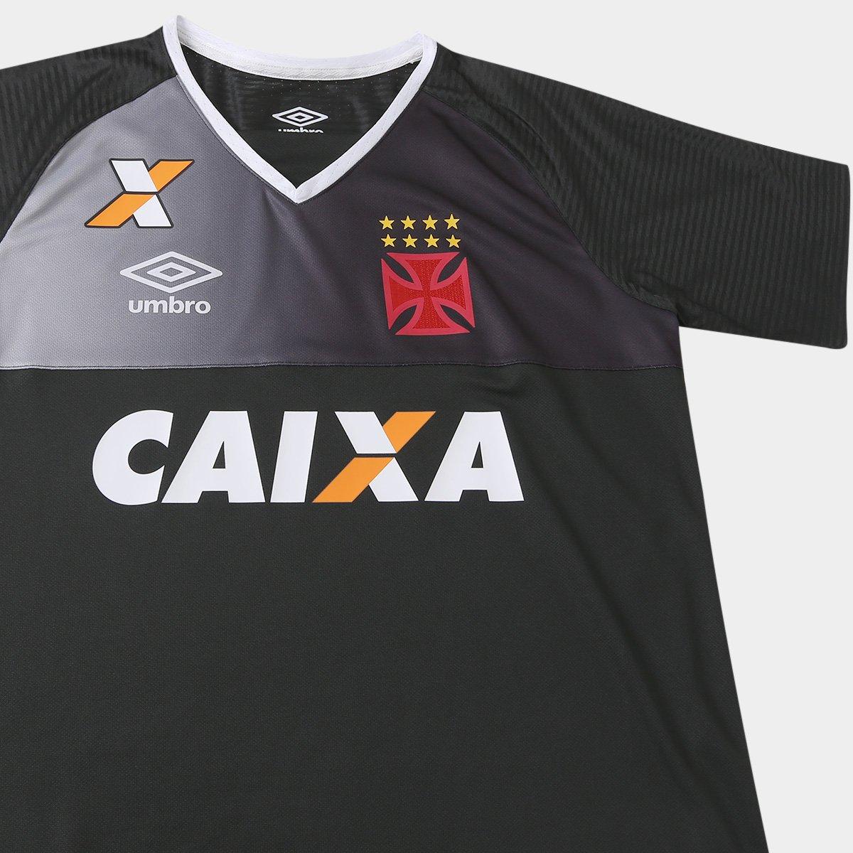 Camisa Vasco Goleiro 17 18 s nº Torcedor Umbro Masculina - Preto e ... 45ea234889690