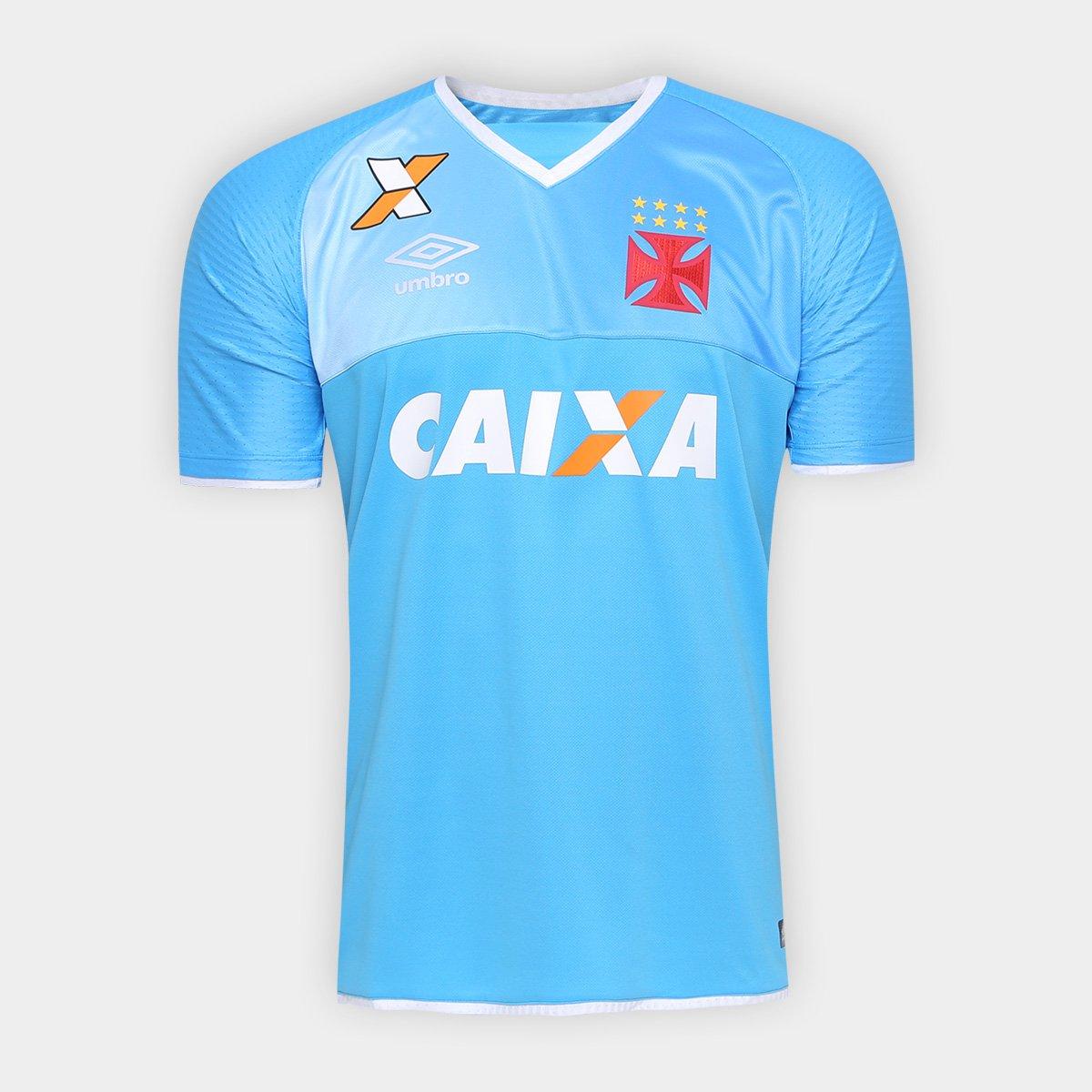 Camisa Vasco Goleiro 17 18 s nº Torcedor Umbro Masculina - Azul ... 22f647e5ade44