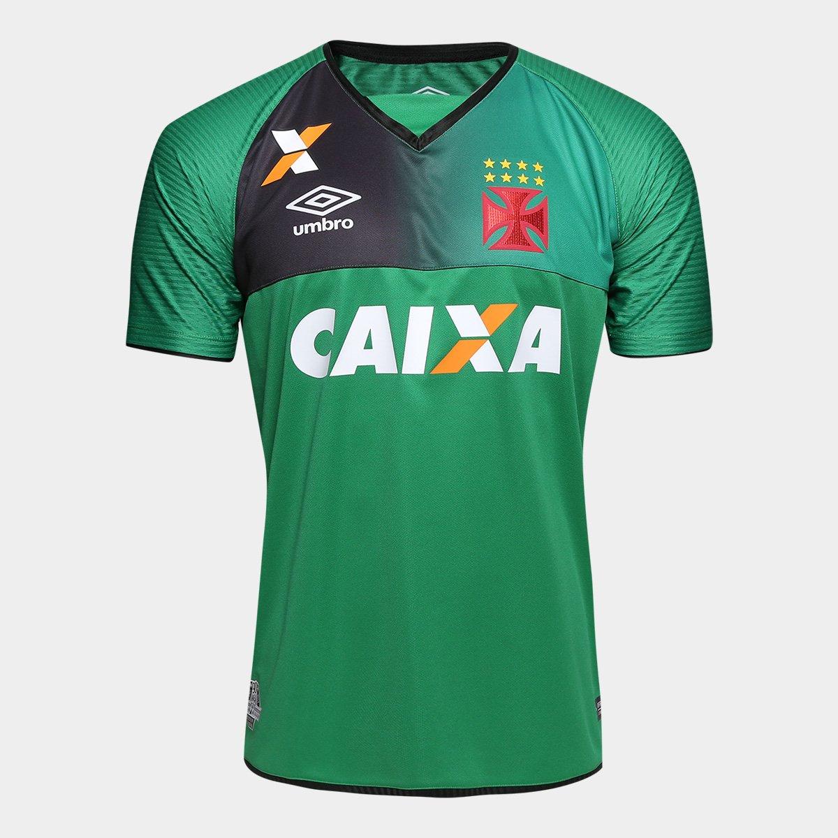 Camisa Vasco Goleiro 17 18 s nº Torcedor Umbro Masculina - Verde e ... bd7700c0c0579