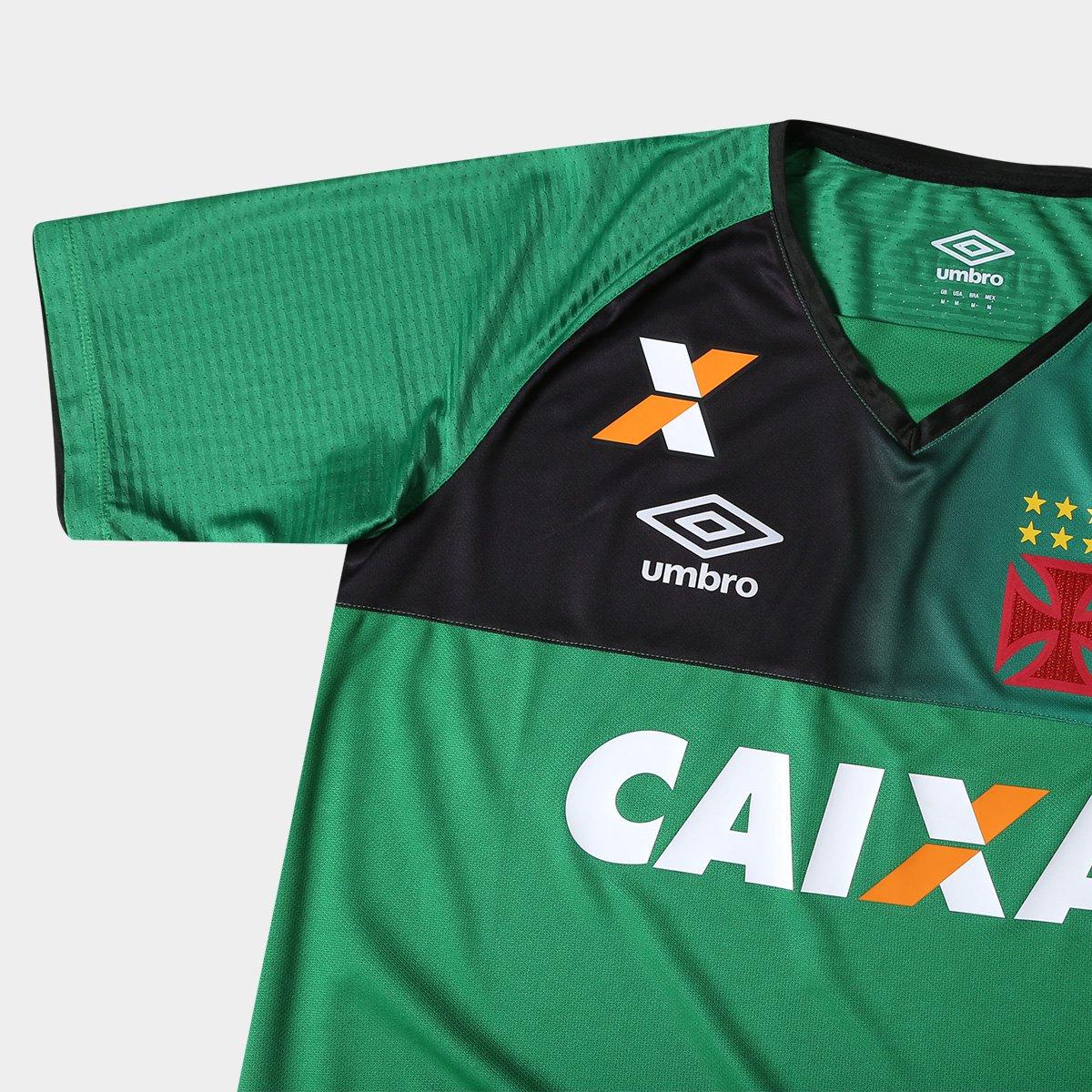 Camisa Vasco Goleiro 17 18 s nº Torcedor Umbro Masculina - Verde e ... 22cf9c4192c9a