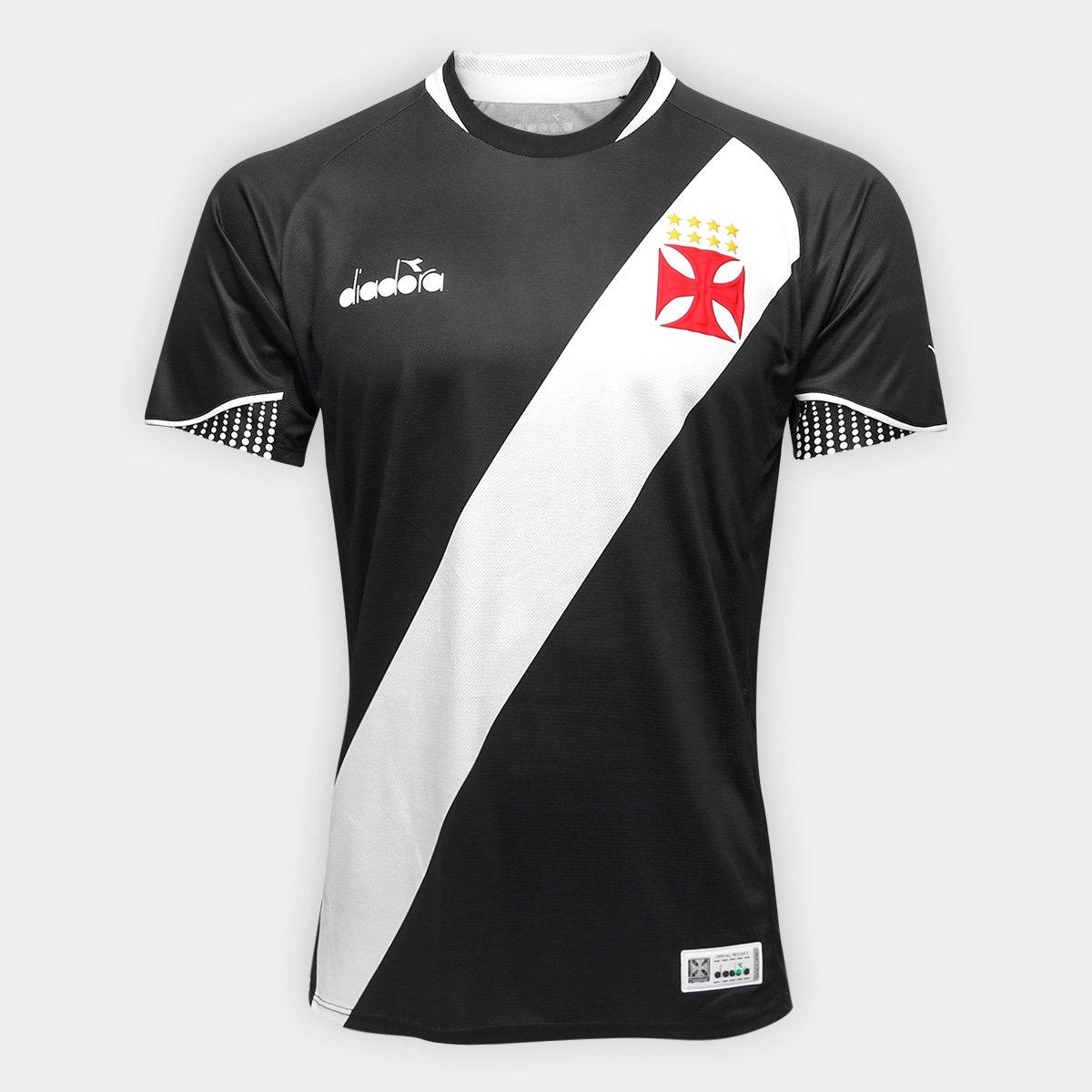 Camisa Vasco I 2018 s n° Jogador Diadora Masculina - Preto - Compre ... c0161a273b711