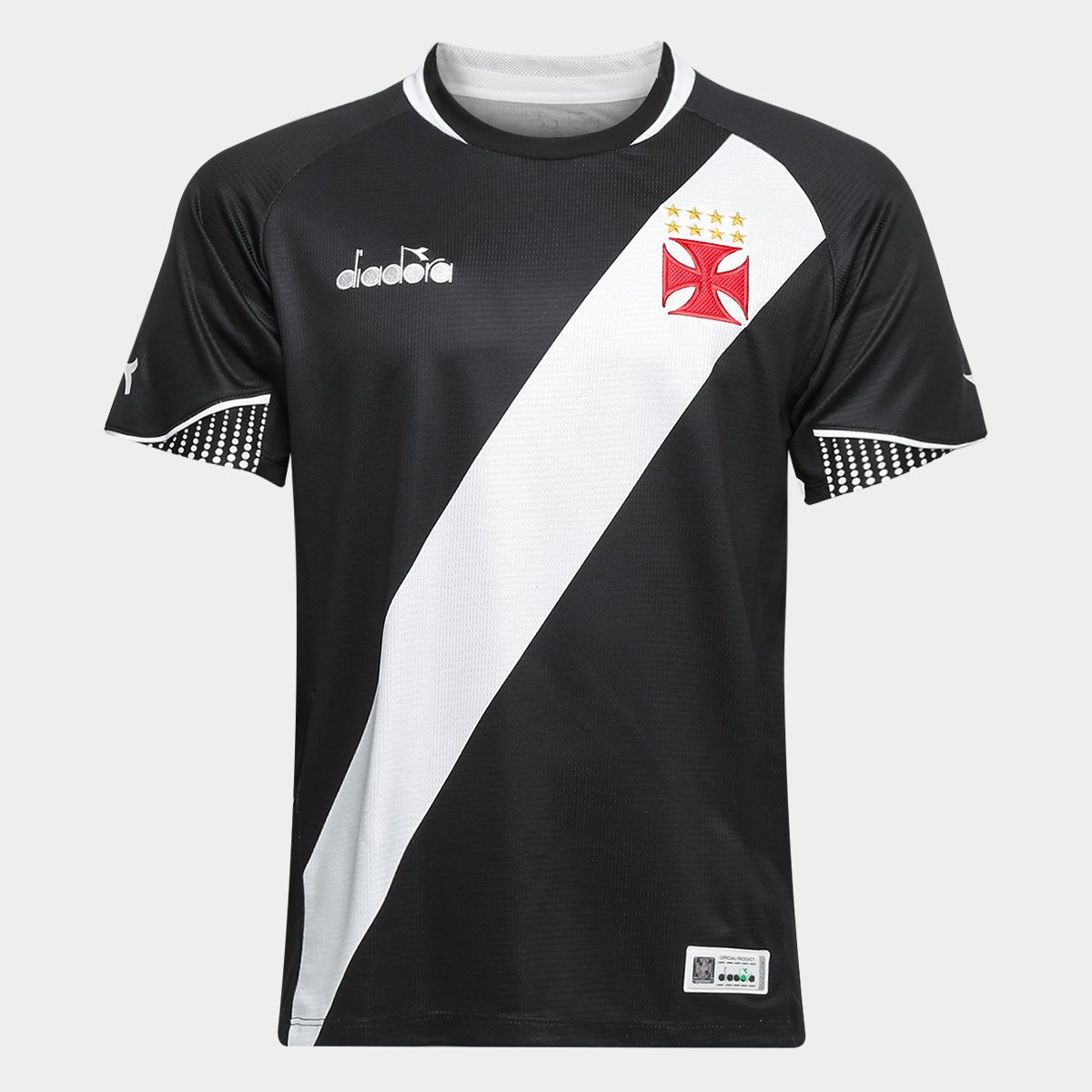 Camisa Vasco I 2018 s n° - Torcedor Diadora Masculina - Preto ... 13dd64f7385a6
