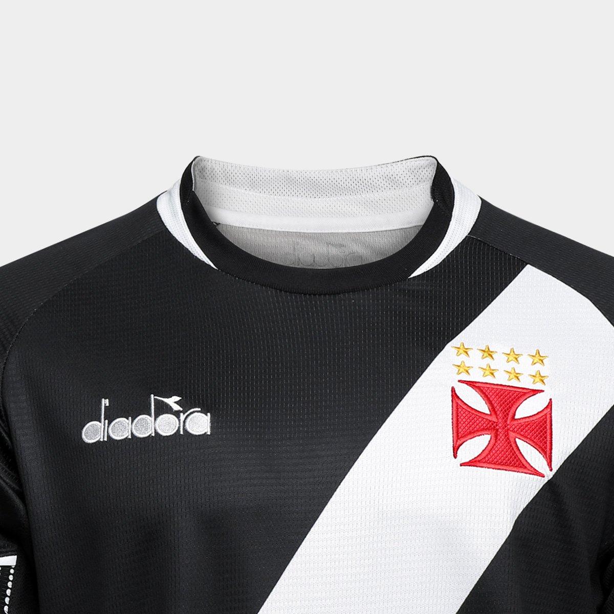 Camisa Vasco I 2018 s n° - Torcedor Diadora Masculina - Preto ... bc316e476a274