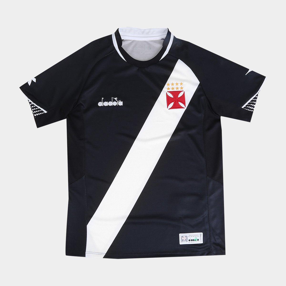 Camisa Vasco I Infantil 2018 s n° Torcedor Diadora - Preto - Compre ... 8ac0b751fca0b