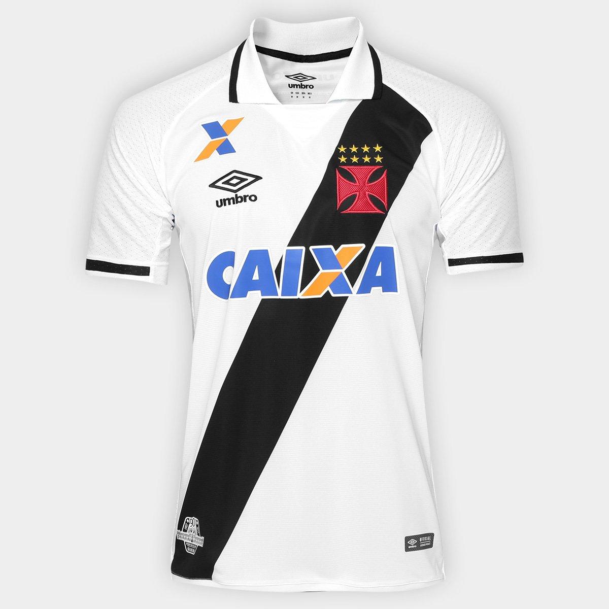Camisa Vasco II 17 18 s nº Torcedor Umbro Masculina - Branco e Preto ... 60bbd9e9ad3e5