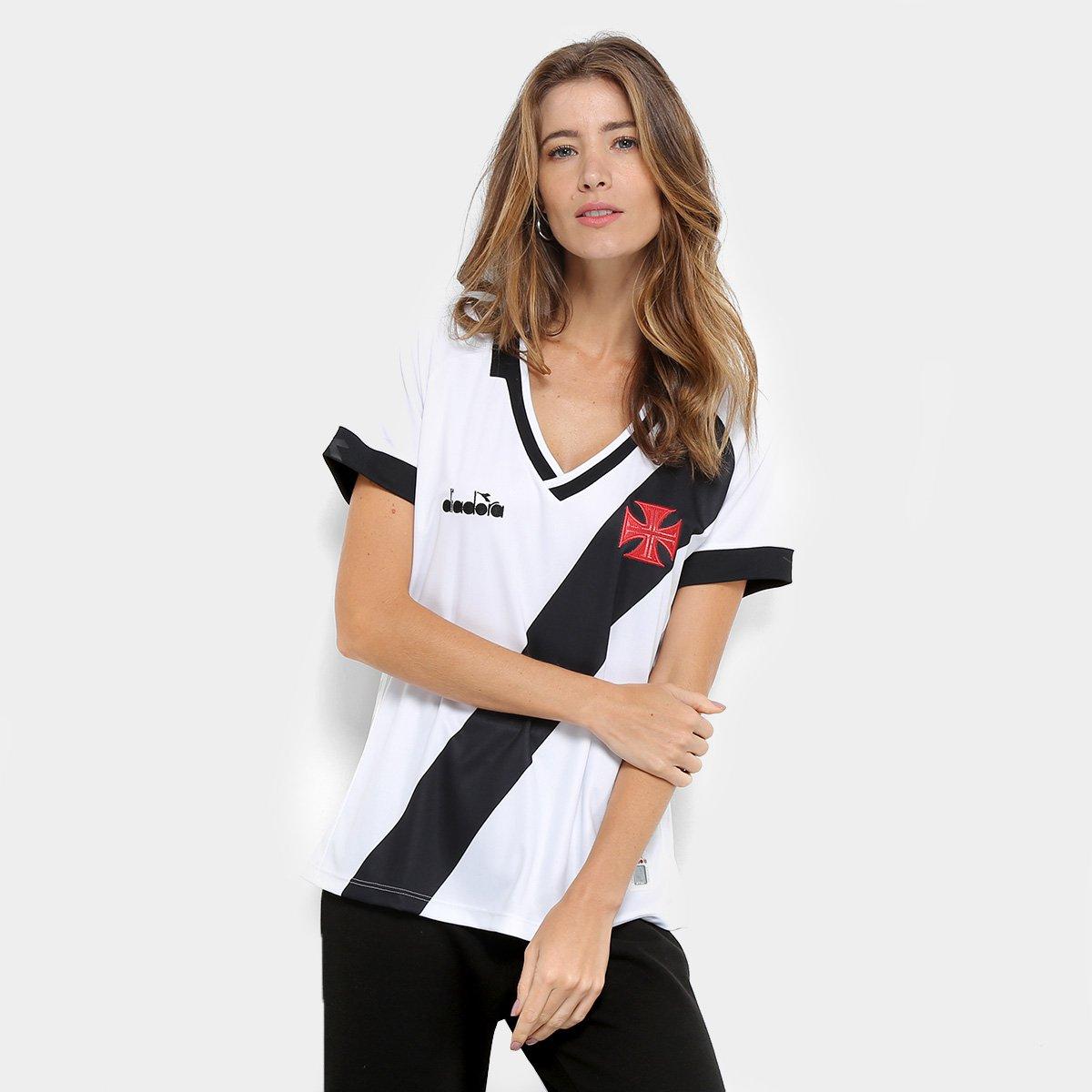 Camisa Vasco II 19 20 s n° - Torcedor Diadora Feminina - Branco ... 23821c2e9bcaa