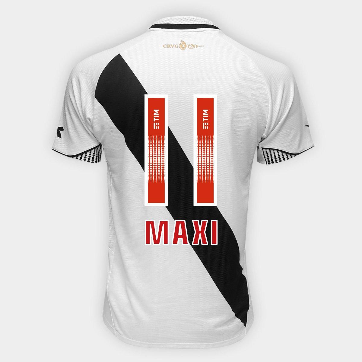 Camisa Vasco II 2018 Nº 11 - Maxi - Torcedor Diadora Masculina ... 244ecf84afd41