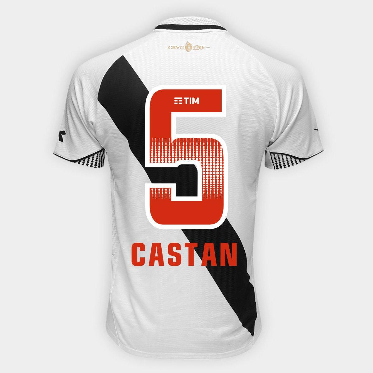 a9df714c937a0 Camisa Vasco II 2018 Nº 5 - Castán - Torcedor Diadora Masculina - Branco -  Compre Agora