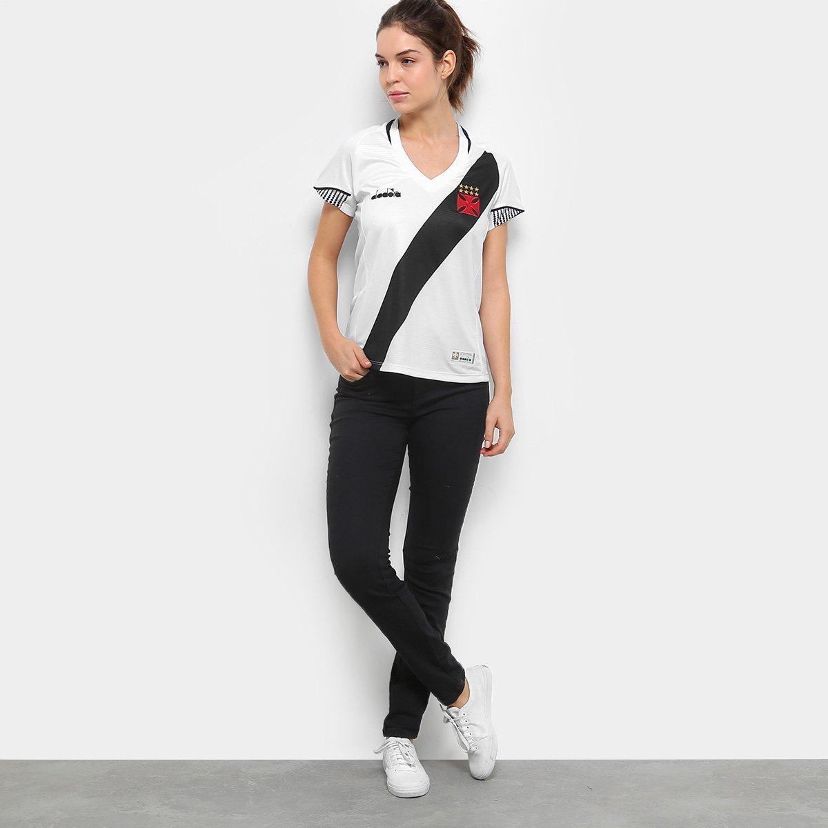 Camisa Vasco II 2018 s n° Torcedor Diadora Feminina - Branco ... 112de94d5c57f