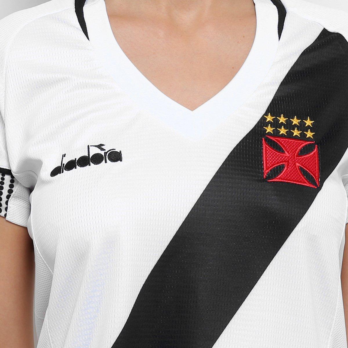 Camisa Vasco II 2018 s n° Torcedor Diadora Feminina - Branco ... 7a745e21fbd70