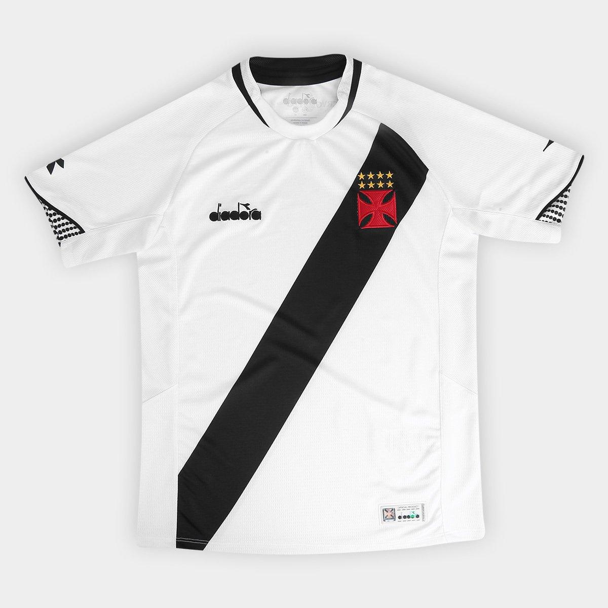 Camisa Vasco II Infantil 2018 s n° Torcedor Diadora - Branco ... b9fad4175a162