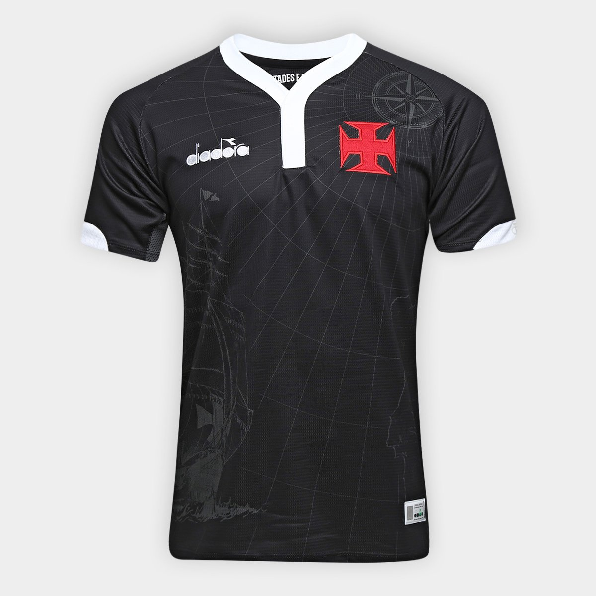 8f581b2c5c2e5 Camisa Vasco III 2018 s n° - Torcedor Diadora Masculina - Preto - Compre  Agora