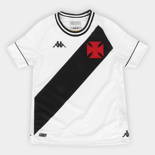 Camisa Vasco Infantil II 20/21 s/n° Torcedor Kappa - Branco+Preto