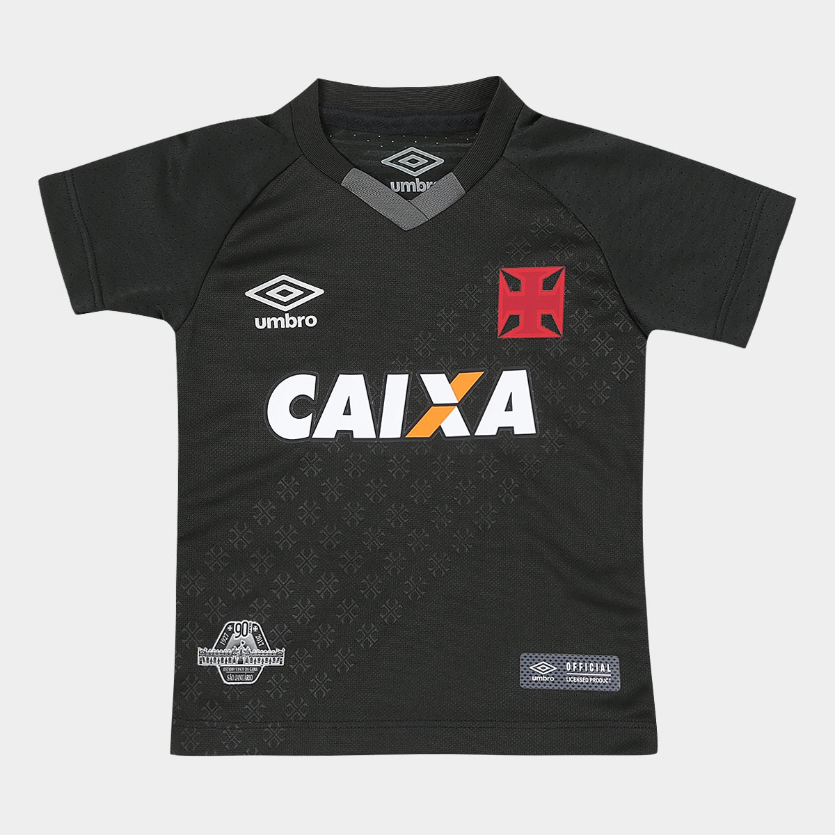 Camisa Vasco Infantil III 17 18 n° 10 - Torcedor Umbro - Preto e ... 439f946ad94b7